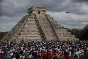 Se llevó a cabo el equinoccio de primavera en la zona arqueológica de Chichén Itzá ante miles de turistas.